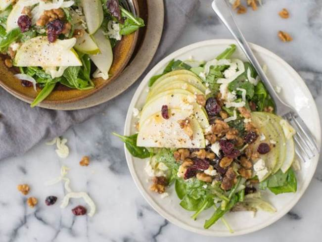 Arugula-Pear Salad with Miso Dressing