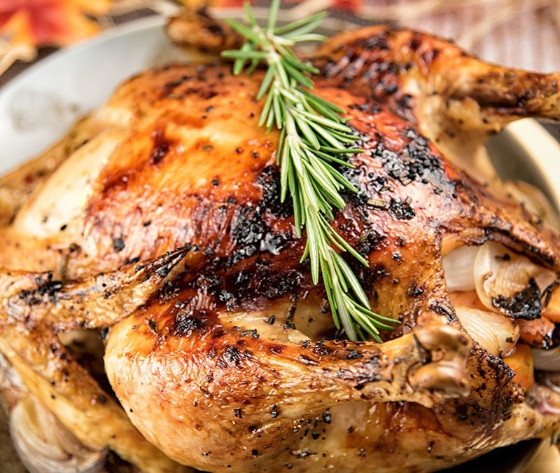 Rosemary–Maple Roast Chicken